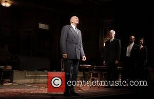 Frank Langella and cast  Opening night of the Broadway play 'Man And Boy' at Roundabout Theatre Company's American Airlines...