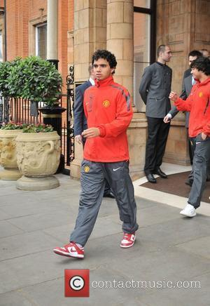 Fabio Da Silva leaves his London hotel along with the rest of the Manchester United team London, England - 27.05.11