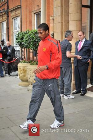 Antonio Valencia leaves his London hotel along with the rest of the Manchester United team London, England - 27.05.11