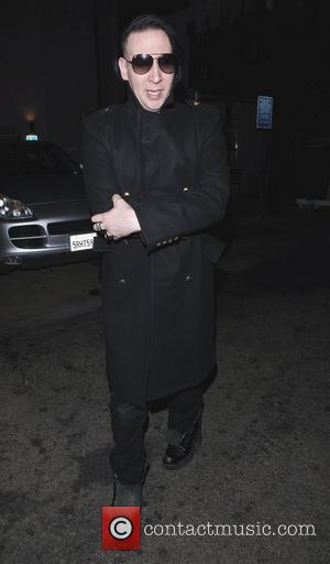 Marilyn Manson leaves Mercato Di Vetro restaurant in West Hollywood Los Angeles, California - 24.10.11
