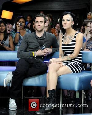 Matthew Lewis and host Phoebe Dykstra appearances on Much Music's New.Music.Live to promote the latest Harry Potter film 'Harry Potter...