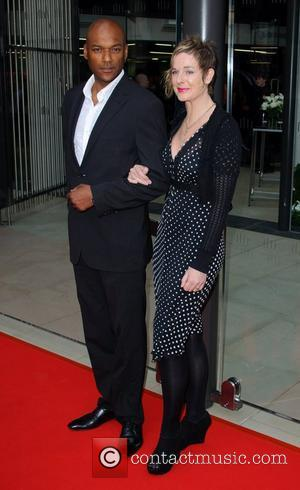 Colin Salmon and Fiona Hawthorne McLaren Automotive Showroom - opening at One Hyde Park - Arrivals London, England - 21.06.11