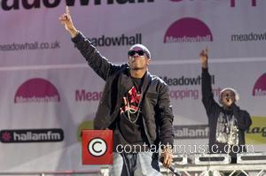 Tinchy Stryder performs at Meadowhall Christmas Light Switch on. Sheffield, England - 03.11.11