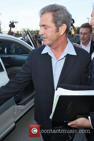 Mel Gibson leaving the Los Angeles County Superior Court Airport Courthouse after pleading no contest to a charge of misdemeanour...