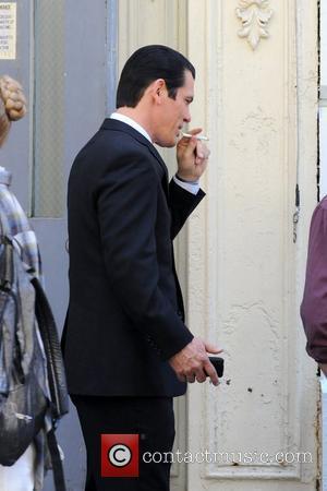 Josh Brolin Will Smith and Josh Brolin are both seen on the set of 'Men In Black III' shooting in...