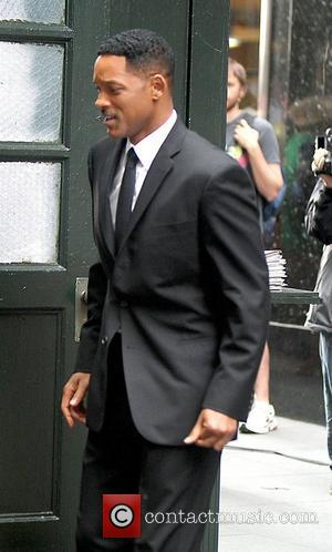 Will Smith is seen on the set of MIB III shooting in New York City New York City, USA -...