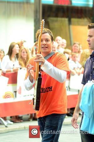 Jimmy Fallon Meredith Vieira's last day at Rockefeller Center as one of the hosts of NBC's 'Today' show New York...