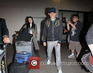 Katie McGrath and Colin Morgan The stars of international smash hit BBC television show Merlin arrive at LAX on a...