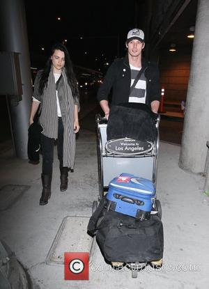 Katie McGrath and Bradley James The stars of international smash hit BBC television show Merlin arrive at LAX on a...
