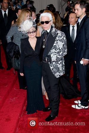 Yoko Ono and Karl Lagerfeld