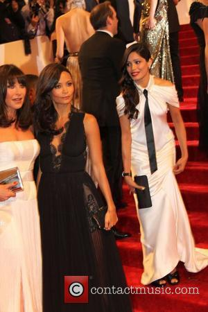 Tamara Mellon, Freida Pinto and Thandie Newton