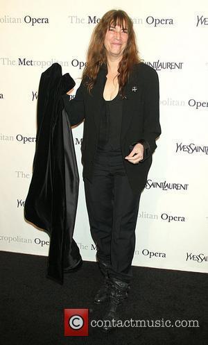 Patti Smith Metropolitan Opera gala premiere of 'Rossini's Le Comte Ory' - Inside Arrivals New York City, USA - 24.03.11