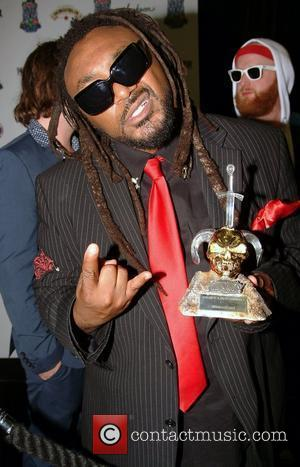 Benji Webbe of Skindred, winner of Best Live Band,  at the Metal Hammer Golden God Awards 2011 at Indigo...