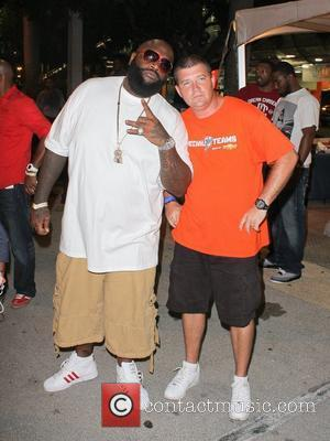 Rick Ross The Miami Dolphins vs The New England Patriots NFL Monday Night Football game at Sun Life Stadium -...