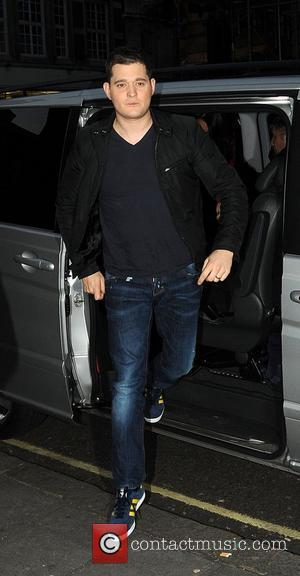 Michael Buble outside the BBC Radio 1 studios London, England - 16.11.11