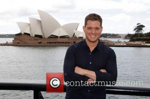 Michael Buble conducts a press conference on the shores of Sydney Harbour ahead of his Australian tour. Sydney, Australia -...
