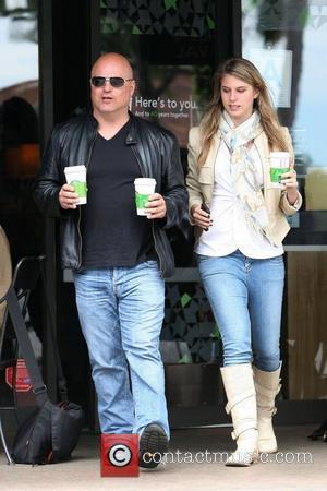 Michael Chiklis and Autumn Chiklis 'No Ordinary Family' star Michael Chiklis picks up coffee at Starbucks at Beverly Glen Mall...