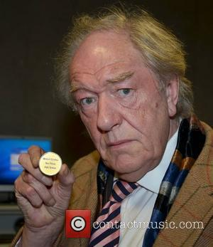 Sir Michael Gambon  is presented with the Gold Medal for Honorary Patronage at Trinity College  Dublin, Ireland -...