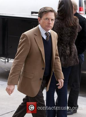 Michael J. Fox on the set of 'The Good Wife' shooting on location in Greenwich Village New York City, USA...