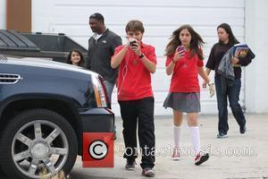 Prince Michael Jackson, Paris Jackson and Prince Michael Jackson II aka 'Blanket' are seen leaving acting classes in Hollywood Los...