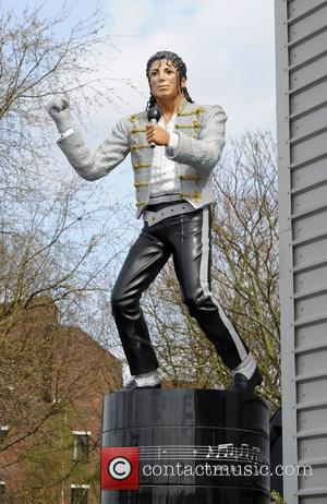 Unveiling of Michael Jackson's statue at Fulham's Craven Cottage stadium.  London, England - 03.04.11