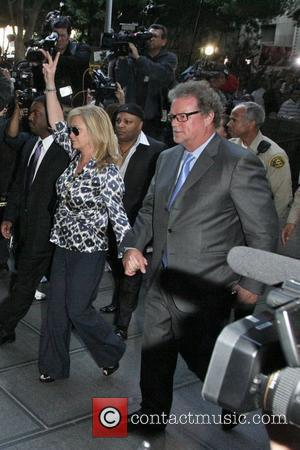 Kathy Hilton and Rick Hilton Arrivals at Los Angeles Superior Court for the verdict in the trial of Dr. Conrad...