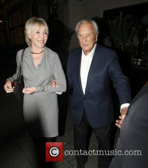 Michael Winner and a friend leave Scott's restaurant in Mayfair London, England - 23.02.11