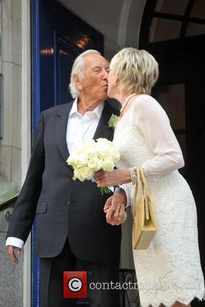 Geraldine Lynton-Edwards and Michael Winner  at their wedding held at Chelsea town hall  London, England - 19.09.11