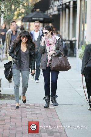 Michelle Trachtenberg walks with a female companion to her car in West Hollywood  Los Angeles, California - 05.11.11