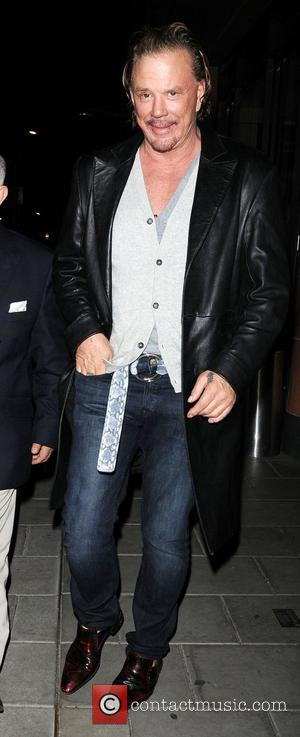Mickey Rourke leaves C restaurant London, England - 19.05.11