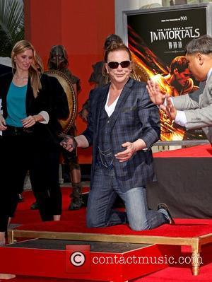 Mickey Rourke is honoured with a Hand and Footprint Ceremony outside Grauman's Chinese Theatre Los Angeles, California - 31.10.11
