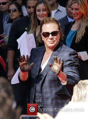 Mickey Rourke Dedicates Cement Honour To Grandmother