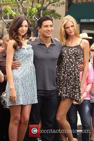 Miranda Kerr, Erin Heatherton and Mario Lopez