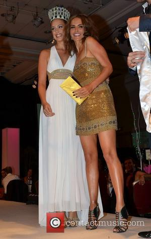 Emma Waldron (former Miss Ireland 2010) and Sophie Anderton Holly Carpenter is crowned Miss Ireland 2011 at the D4 hotel...