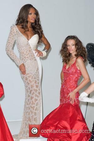 Crystle Stewart, Zana Krasnigi Donald Trump poses with former Miss Universe Winners for photographer Fadil Berisha New York City, USA...
