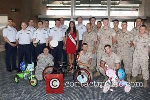 Miss USA, Rima Fakih Miss USA Contestants attend a bike build in celebration of the 60th anniversary of the Miss...