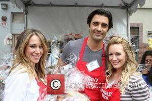 Gilles Marini, Haylie Duff and Hilary Duff Los Angeles Mission Easter for the Homeless held at the Los Angeles Mission...