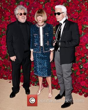 Pedro Almodovar, Anna Wintour and Karl Lagerfeld