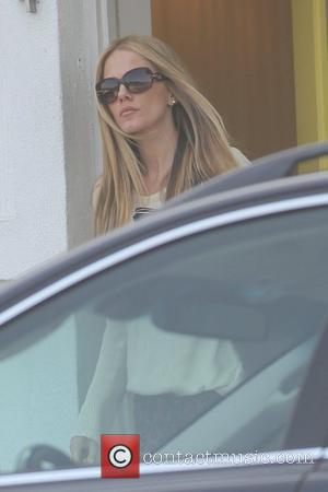Monet Mazur showing off her new blonde hair as she leaves a salon Los Angeles, California - 01.11.11