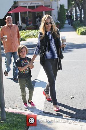 Marlon De Rakoff and Monet Mazur Monet Mazur on her way to a salon with her son Los Angeles, California...