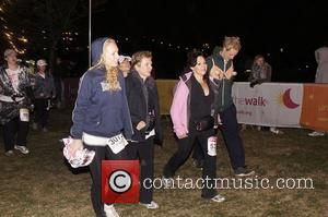 Jennifer Saunders And Harriet Thorpe  The Moonwalk London 2011 to raise money to fight breast cancer London, England -...