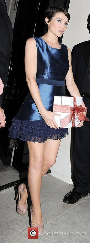 Dannii Minogue leaving Spring Summer 2012 collection of 'Project D' launch at Mortons club in Berkeley Square. London, England -...
