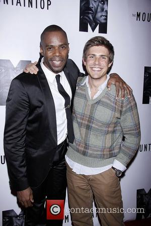 Colman Domingo and Chris Lowell  Opening night after party for the Broadway play 'The Mountaintop' held at Espace banquet...