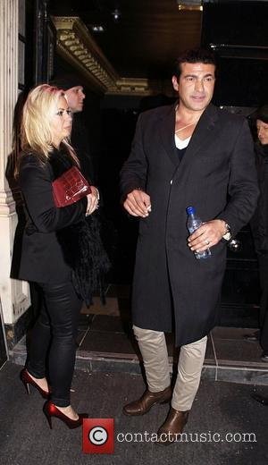 Tamer Hassan and guest leaving Movida nightclub  London England - 26.01.11
