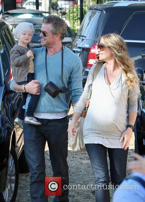 Eric Dane and Rebecca Gayheart with daughter Billie Beatrice Dane at Mr Bones Pumpkin Patch in West Hollywood. Los Angeles,...