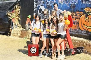 Lorenzo Lamas and his wife, Shawna Craig at Mr Bones Pumpkin Patch in West Hollywood with his children, Shayne Lamas,...