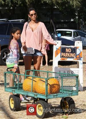 Eddie Murphy's ex wife Nicole Murphy and her daughter spend the afternoon at Mr Bones Pumpkin Patch in West Hollywood....