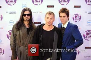 30 seconds to mars  The MTV Europe Music Awards 2011 (EMAs) held at the Odyssey Arena - Arrivals Belfast,...