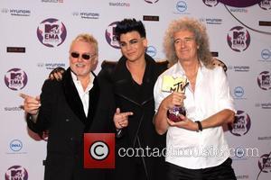 Adam Lambert, Brian May and Roger Taylor