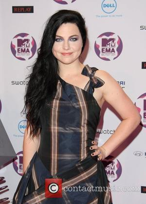 Amy Lee of Evanescence The MTV Europe Music Awards 2011 (EMAs) held at the Odyssey Arena - Press Room Belfast,...